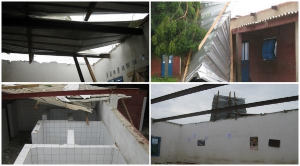 Plafonds des écoles et leurs toilettes.